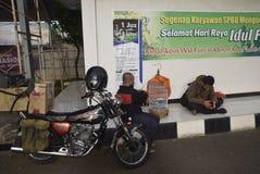 Reizigers die Semarang ingaan Stock Afbeeldingen