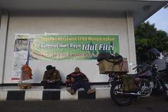 Reizigers die Semarang ingaan Royalty-vrije Stock Fotografie