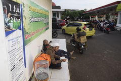 Reizigers die Semarang ingaan Stock Foto's