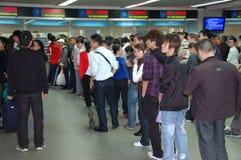 Reizigers tijdens Chinees Nieuwjaar Royalty-vrije Stock Fotografie