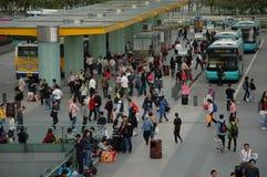 Reizigers tijdens Chinees Nieuwjaar Royalty-vrije Stock Afbeeldingen