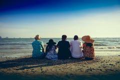 Reizigersfamilie stock afbeelding