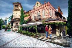 Reizigerspaar in Tbilisi Royalty-vrije Stock Afbeelding