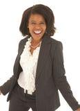 Reizvolle afrikanische Geschäftsfrau lizenzfreie stockbilder