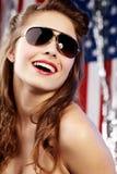 Reizvolle amerikanische Frau Stockfotografie