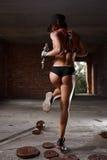 Reizvolle athletische Frau Stockfotos