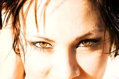 Reizvolle Augen Stockfoto