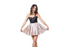 Reizvolle Ballerina in einer Korsettaufstellung Stockbild