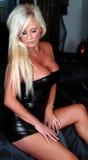 Reizvolle blonde Frau stockbilder