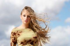 Reizvolle blonde Frau Lizenzfreies Stockfoto