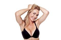 Reizvolle blonde Frau. Lizenzfreie Stockbilder