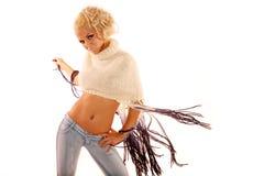 Reizvolle blonde Frau stockfotografie