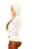 Reizvolle blonde Frau in Bikini 88. Lizenzfreies Stockfoto