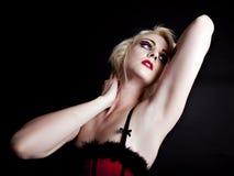 Reizvolle blonde Frau in der Unterwäsche Lizenzfreies Stockfoto