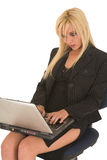 Reizvolle blonde Geschäftsfrau Lizenzfreie Stockbilder
