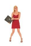 Reizvolle blonde Geschäftsfrau Stockbild
