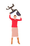 Reizvolle blonde Geschäftsfrau Lizenzfreie Stockfotografie