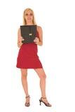 Reizvolle blonde Geschäftsfrau Stockbilder