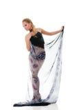 Reizvolle blonde Tanzenfrau Lizenzfreies Stockfoto