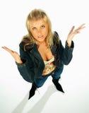 Reizvolle blonde vorbildliche Ausdrücke 5 Stockfotografie