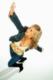 Reizvolle blonde vorbildliche Ausdrücke 7 Lizenzfreie Stockbilder