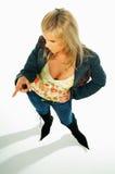 Reizvolle blonde vorbildliche Ausdrücke 8 Lizenzfreies Stockbild