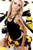 Reizvolle blonde weibliche Arbeitskraft Lizenzfreie Stockbilder
