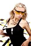 Reizvolle blonde weibliche Arbeitskraft Lizenzfreie Stockfotos