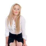 Reizvolle Blondine Stockbilder