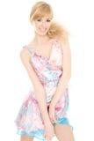 Reizvolle Blondine Stockbild