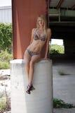 Reizvolle Blondine in einem Bikini (2) Lizenzfreies Stockfoto