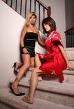 Reizvolle Brunettefrauen 2 Stockfoto