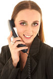 Reizvolle Brunettegeschäftsfrau lizenzfreies stockbild