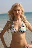 Reizvolle Dame im Bikini stockfotografie