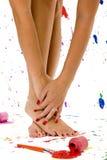 Reizvolle Füße und Hände Stockfotos