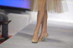 Reizvolle Fahrwerkbeine und Schuhe des Mannequins stockbild