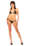 Reizvolle Frau im Bikini stockfotografie