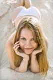 Reizvolle Frau im Bikini. stockbilder