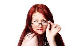 Reizvolle Frau mit Gläsern Stockbilder