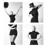 Reizvolle Frau mit Hut Stockbild