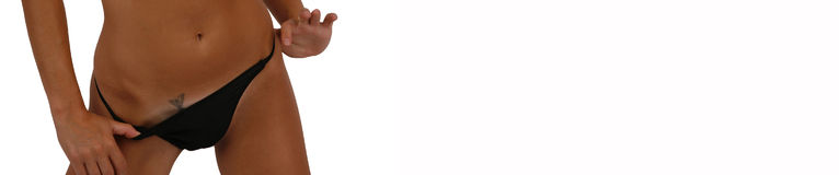 Reizvolle Frauenkarosserie Lizenzfreies Stockfoto