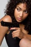 Reizvolle Gewehr-Frau Lizenzfreies Stockfoto