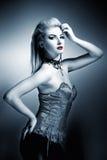 Reizvolle gotische Frau lizenzfreies stockbild