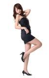 Reizvolle Haltung der asiatischen modernen Dame Stockbild
