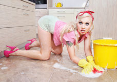Reizvolle Hausfrau Lizenzfreies Stockbild