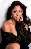 Reizvolle hispanische Frau Stockfoto