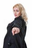 Reizvolle junge blonde Frau    Lizenzfreies Stockbild