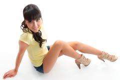 Reizvolle junge Frau stockbilder