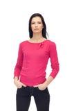 Reizvolle junge Frau in den Jeans und in Bluse getrennt Lizenzfreie Stockbilder