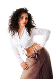 Reizvolle junge Latina-Frau Lizenzfreies Stockfoto